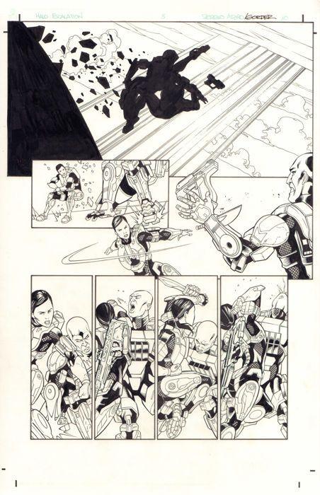 Juan Castro - Original Art Page - HALO : Escalation #3 - Page 10 - Dark Horse / Microsoft - (2015) - W.B.