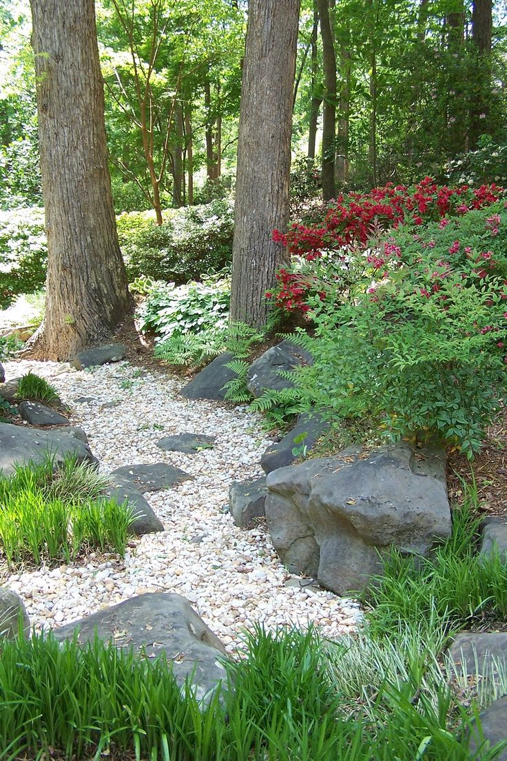 Shaded hillside path  -  Linda Broughman via Carlos Aime onto Garden Paths.