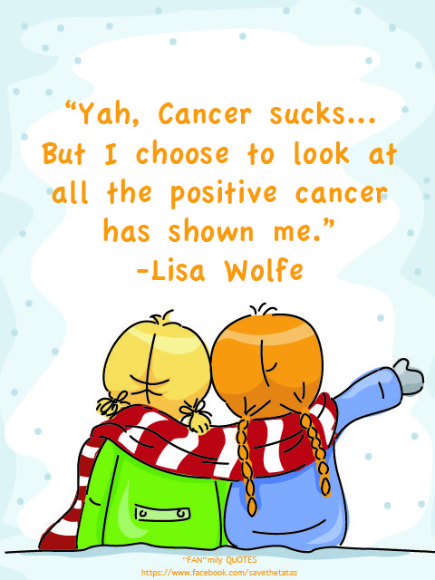 FanMily quotes #savethetatas cancer sucks