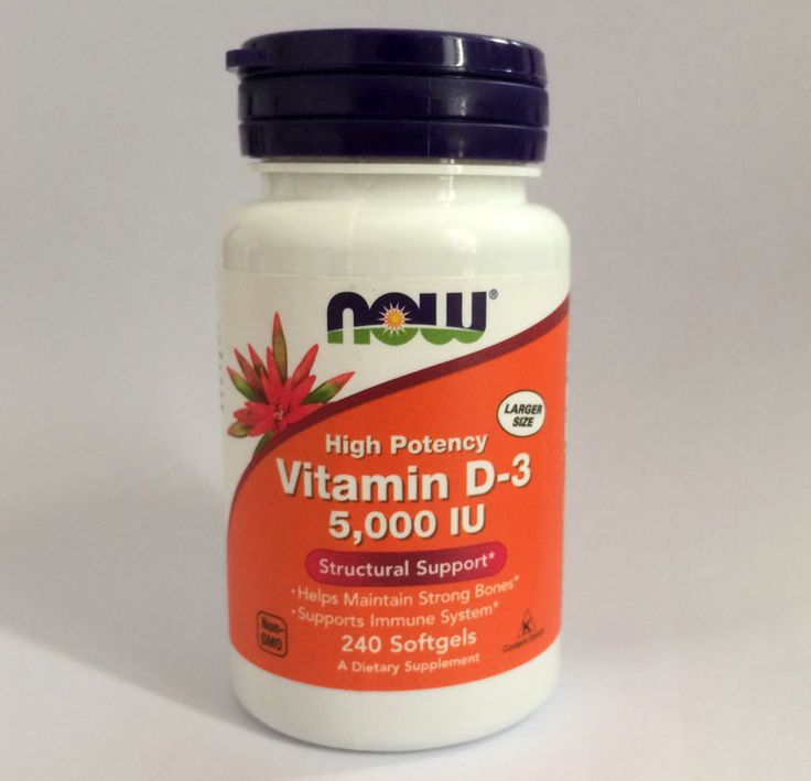 Now Vitamin D-3 5,000 IU Helps Maintain Strong Bones Supports Dental Health 240 Softgels