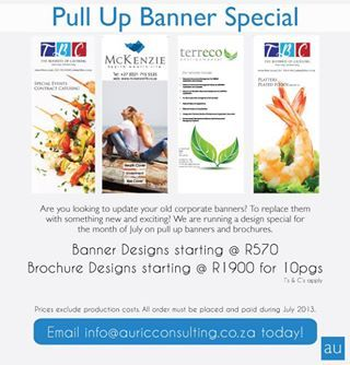 The banners Auric Consulting did for us. www.tboc.co.za