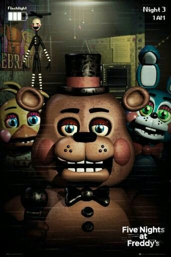 Me, Toy Freddy, Toy Bonnie and Marionette