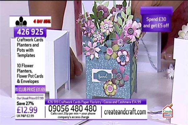 Planters /& Pots Collection Craftwork Cards