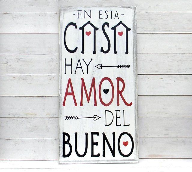 Cuadro Vintage Con Frase En Esta Casa Hay Amor Del Bueno