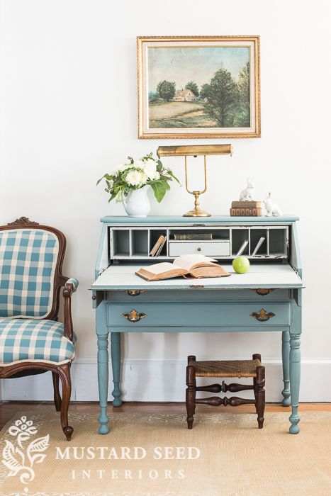"""swedish"" blue desk miss mustard seed FURNITURE spiration Pinterest Miss mustard"