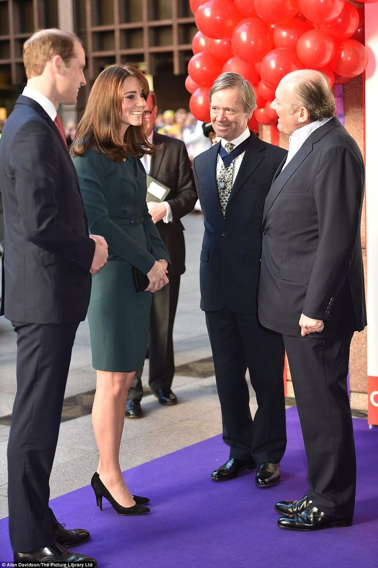 Prince William and  the Duchess of Cambridge arrived at the event in the city of London, where they were greeted by Michael Spencer: