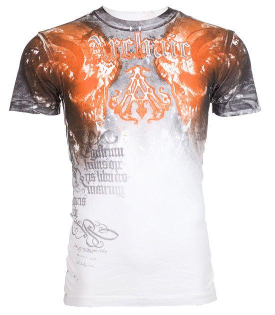 Archaic AFFLICTION Mens T-Shirt NIGHTWATCHER Skulls Tattoo Biker UFC M-3XL $40 f #Affliction #GraphicTee