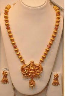 New golden gundla haram necklace designs - Latest Jewellery Design for Women | Men online - Jewellery Design Hub