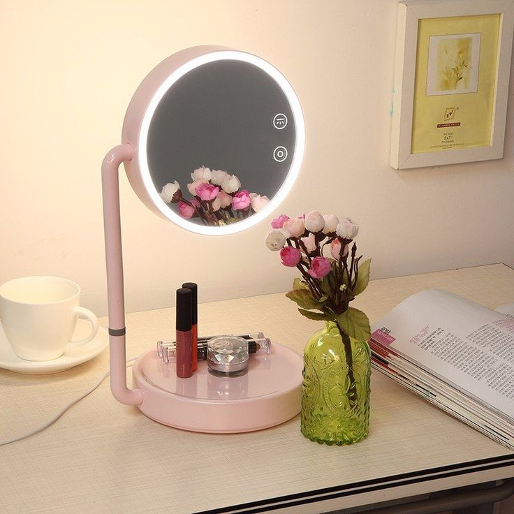 LED Lighted Makeup Mirror USB Wide View Rotatable Adjustable Stand Desk  Bedside Lamp. 17 Best ideas about Lighted Makeup Mirror on Pinterest   Lighted