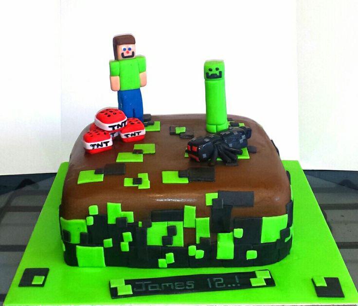Minecraft zombie spider cake.