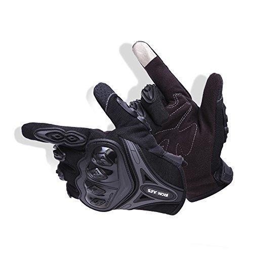 Oferta: 9.99€ Dto: -50%. Comprar Ofertas de Par Guantes Dedo Completo PU Proteccion para Moto Bici Motocicleta Motorista puede pantalla táctil … (L, negro) barato. ¡Mira las ofertas!
