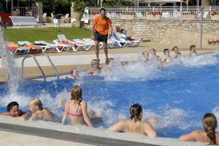 Water gym at Cypsela #camping #summer #animation