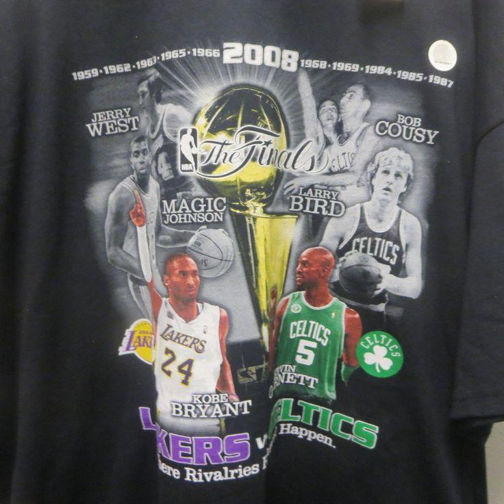 2008 NBA Finals T-Shirt Los Angeles Lakers Boston Celtics NOS Tag 2X #LosAngelesLakersCeltics