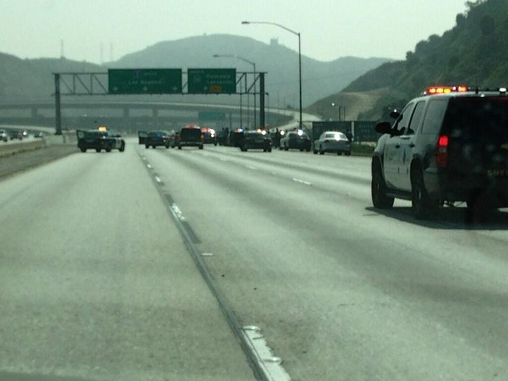 March 2013. Termination of pursuit at S/B 5 freeway 14