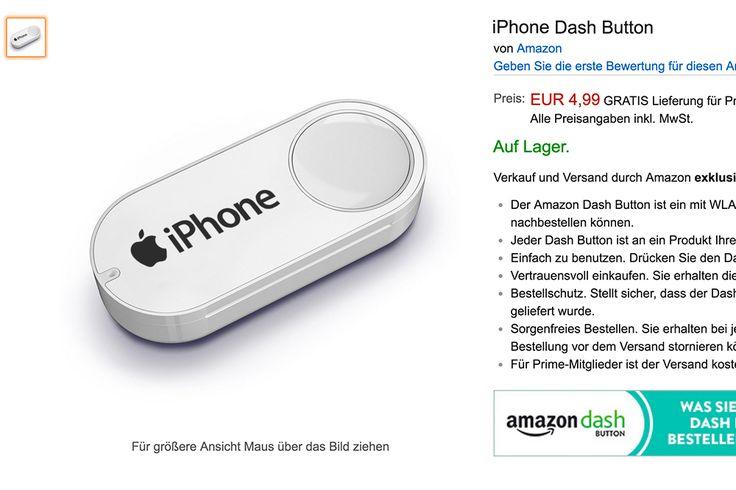 """Neues iPhone kaufen per Knopfdruck: iPhone Dash-Button - https://apfeleimer.de/2016/09/neues-iphone-kaufen-per-knopfdruck-iphone-dash-button - Neues iPhone kaufen mit dem neuen Amazon iPhone Dash Button? Jedes Jahr ein neues iPhone, Amazon zeigt die bessere Umsetzung dessen, was Apple mit dem """"iPhone Abo-Modell"""" versucht. Endlich stressfrei das neueste iPhone kaufen – wie entspannt wären die iPhone 7 Vorbestellungen ..."""