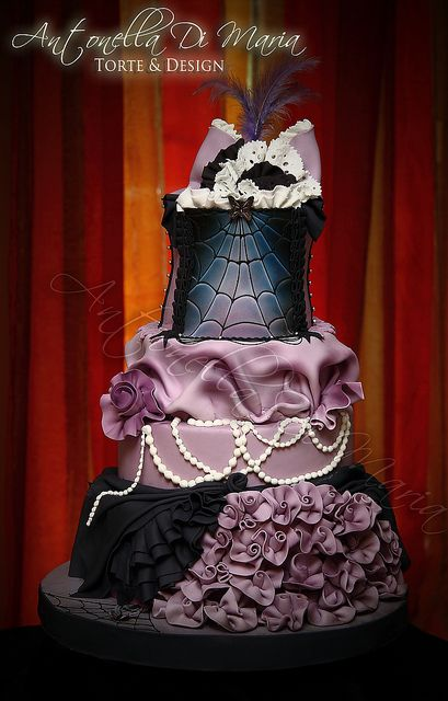 Purple Black Cake Cake Cake And More Cake Pinterest Gothic Weddin