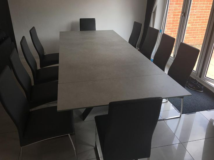 xenon ceramic top extendable dining table in phedra ceramic paired with our verona dining chairs