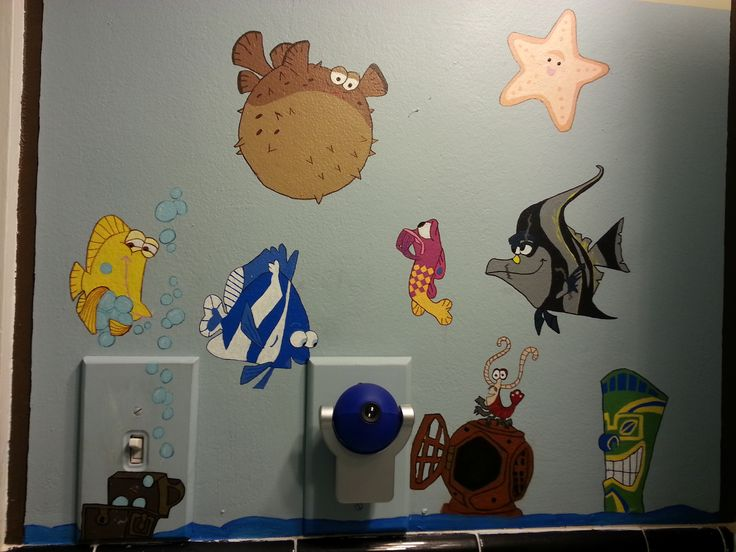 57 best nursery rooms images on pinterest for Finding nemo bathroom ideas