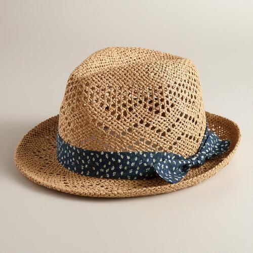 One of my favorite discoveries at WorldMarket.com: Natural Floral Band Fedora