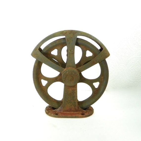 Pulleys Antique Looking : Images about creative uses for old pulleys on