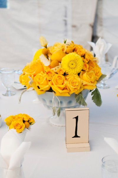 Table number options...flowers