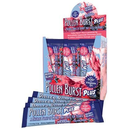 """""""PIN IT TO WIN IT!"""" - 30 packets of Pollen Burst Plus Berry by Youngevity - Featuring New Zealand Blackcurrant and the powerful antioxidant SOD, this great-tasting natural berry-flavored drink helps the body fight damage by free radicals, toxins, and other environmental stresses."""