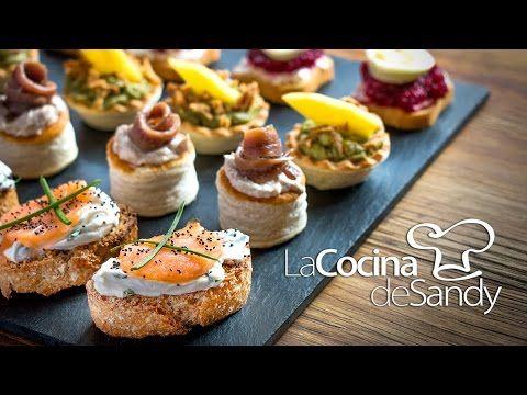 Canapés en 15 minutos en recetas de comida faciles - YouTube