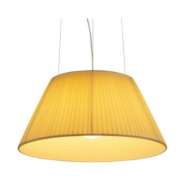 FLOS Romeo Soft S2 Pendant Light (€760) ❤ liked on Polyvore featuring home, lighting, ceiling lights, flos, yellow lights, flos lamp, yellow lamp and flos lighting