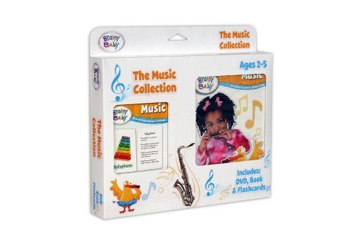 Brainy Baby Music Collection by Brainy Baby. $20.18. Educational. Brainy Baby is the winner of more than 75 national awards and recognitions. Great learning item. From the Manufacturer                Your child will delight in learning about Music, three different ways. This adorable, convenient gift pack features the full length Brainy Baby DVD, 14-page Board Book and 36-piece Flashcard set. A must-have for early-learning. Brainy Baby is the winner of more than...
