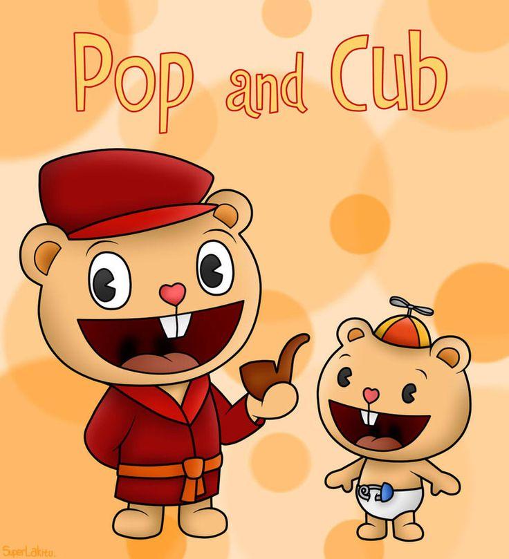 Happy Tree Friends: Pop and Cub by SuperLakitu on DeviantArt