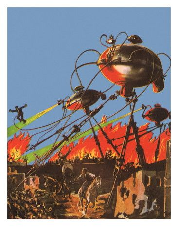 Sci Fi - War of the Worlds, 1927 Giclee Print by Frank R. Paul at AllPosters.com