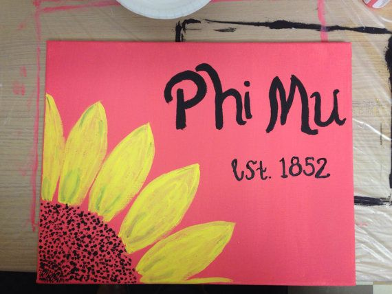 Phi Mu Sorority Canvas by AlexanderSisters on Etsy