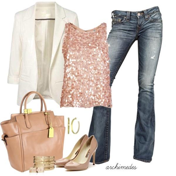Back to School...sequins + blazer style!