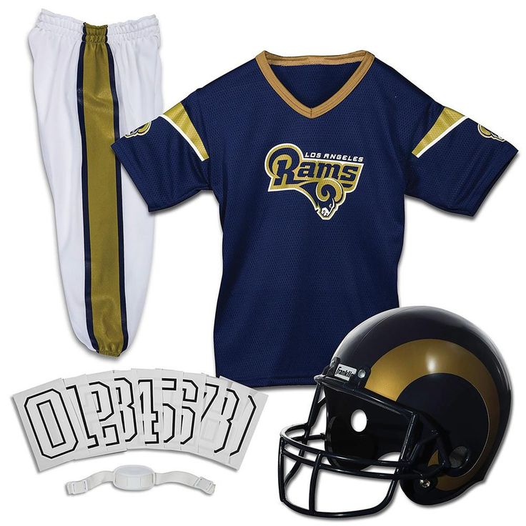 Los Angeles Rams Youth NFL Deluxe Helmet and Uniform Set (Small)