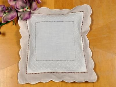"""Small Sachet Cover with Diamond Dot Weave This small diamond weave pattern sachet cover can be used as a small throw pillow or as a ring bearer pillow.    Sold individually, the sachet cover fits a 10"""" x 10"""" standard pillow form.    A beautiful design to highlight and accent any room!      Pillow form not included."""