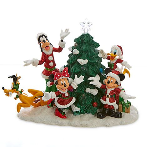 Santa Mickey Mouse and Friends Light-Up Tree Figure