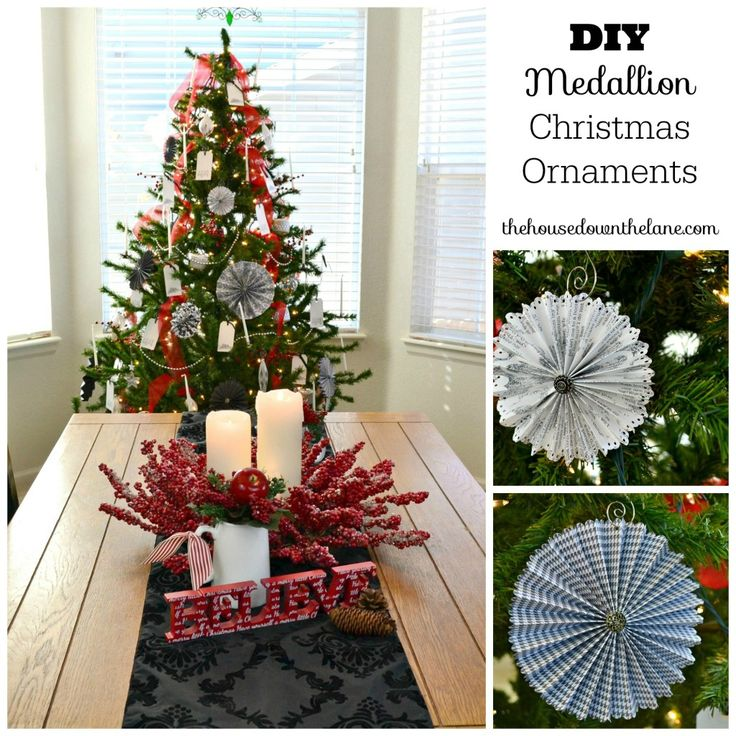 Welcome to day 1 of the holiday craft party today is all for Paper christmas decorations to make at home