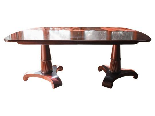 Bakeru0027s Revival Dining Table Exhibits Symmetry And Restraint With A Modern  Freshness. Made From Rich Mahogany, The Table Has A Refined Silhouette  Grounded ...