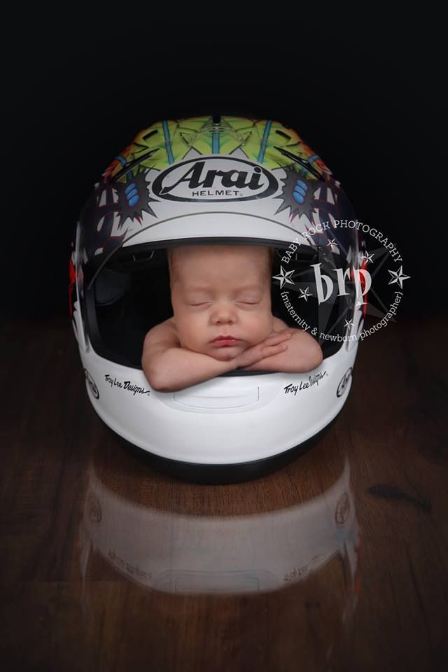 Bike baby---would be even better with a racecar helmet!!