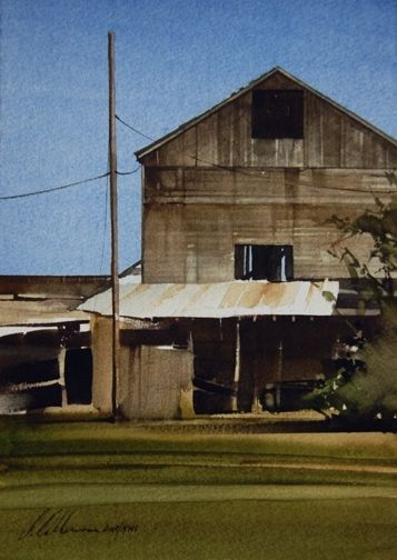 "2010, Cobalt Sky by Joseph Alleman Watercolor ~ 10"" x 7"""