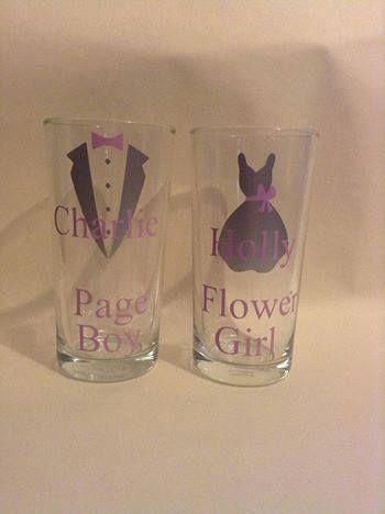 Personalised flower girl / page boy tumblers