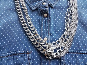 Multi chain statement necklace by An-If in chains