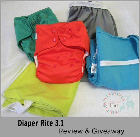 Full review with photos of the new Diaper Rite 3.1 bamboo AIO and the one-size cover. See the fit on different ages.