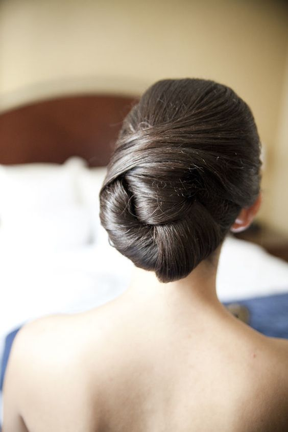 Featured Photographer: Readyluck; Updo wedding hairstyle idea.