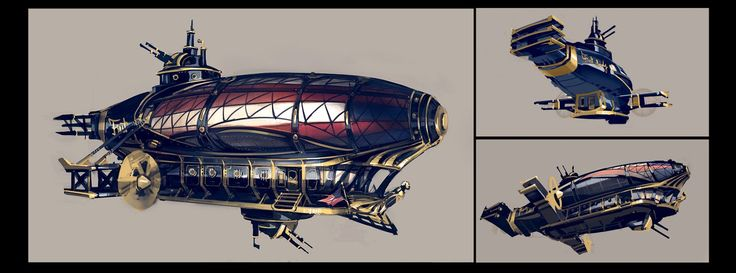 The First Lady airship (in-game model also done by Paul Presley)