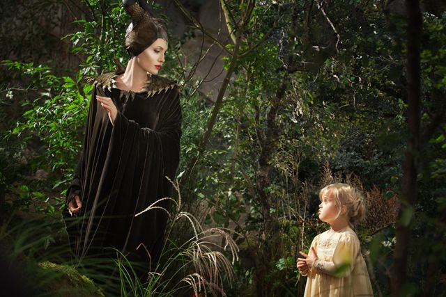 Angelina Jolie and daughter Vivienne in Maleficent
