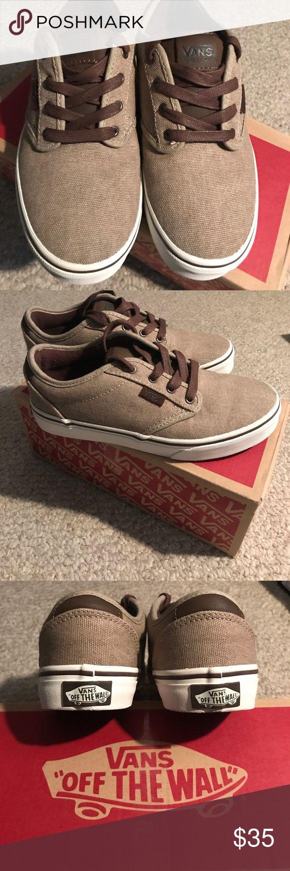 Boys Vans Shoes BRAND NEW Boys brown van shoes. Bought and never worn! Original box. Vans Shoes