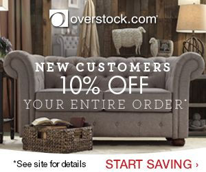 Get Overstock Coupon Codes for 20% off in May 2015 or 10% off Entire Order Promo Codes in 2015! Save online on designer brands and home goods at low prices with coupons, promo codes & Free Shipping at Overstock.com. Note: The 20% Coupon is not available in May - Get 15% off Today!