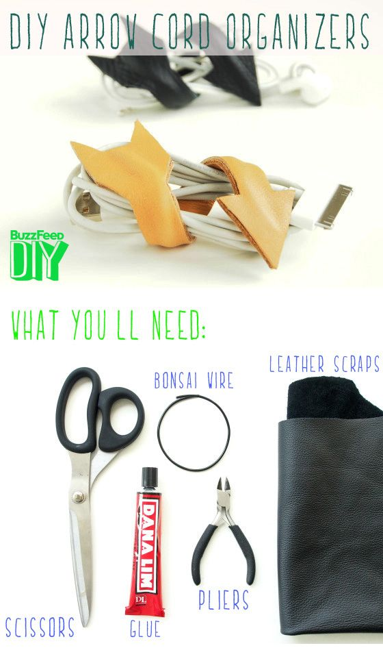 Arrow Cord Organizers // 5 Easy and Adorable Ways to Organize Your Cords