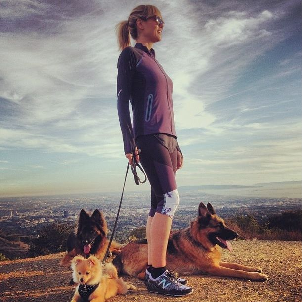 Heidi Klum posted this photo of herself hiking with her beloved dogs. http://www.animals-zone.com/celebrities-their-pets-part-1